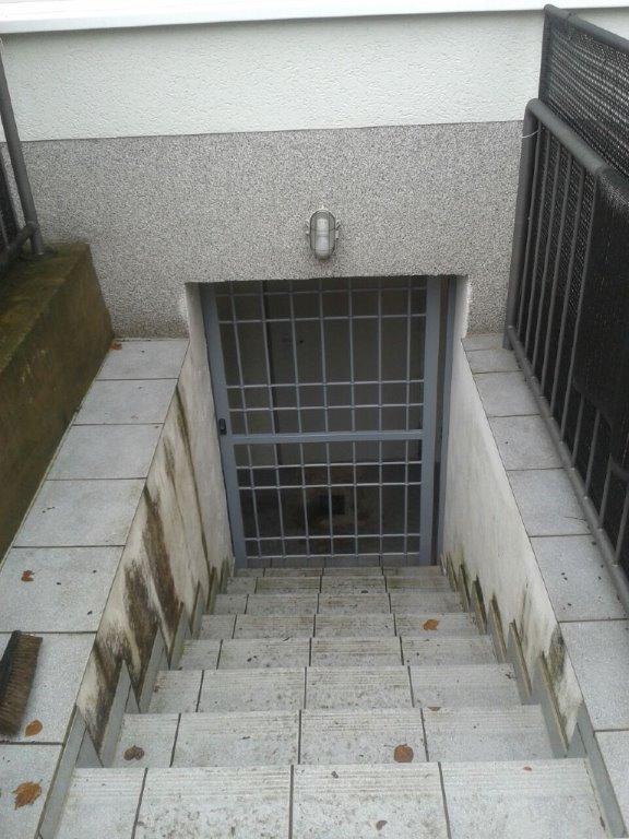Stahlgitter DEA K vor Kellertüre